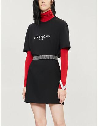Givenchy Logo-print slim fit cotton-jersey T-shirt