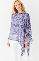 J. Jill Bordered Medallion Scarf Poncho