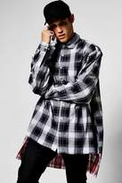 Boohoo Long Sleeve Oversize Check Shirt
