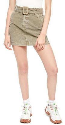 BDG Belted Corduroy Miniskirt