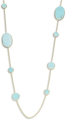 Ippolita Polished Rock Candy 18K Yellow Gold & Turquoise Mixed-Shape Necklace