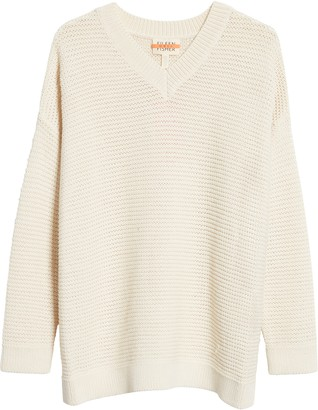 Eileen Fisher Organic Cotton Blend V-Neck Sweater