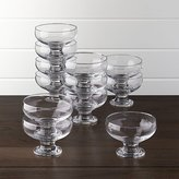 Crate & Barrel Footed 10 oz. Dessert Dishes, Set of 12