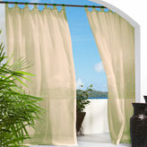 Asstd National Brand Escape Hook and Loop Tab-Top Outdoor Curtain Panel