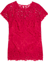 Dolce & Gabbana Guipure Lace Top - Red