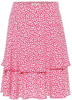 Diane von Furstenberg Margaux floral crepe miniskirt