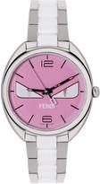Fendi Silver & Pink Momento Bugs Watch