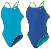 Nike Swim Reversible Solids Cut Out Tank One Piece Swimsuit 35002