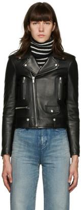 Saint Laurent Black Leather Classic Motorcycle Jacket