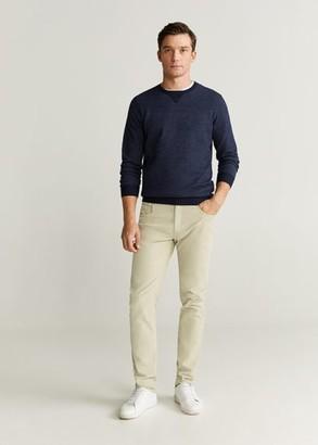 MANGO MAN - Slim fit denim-effect corduroy trousers beige - 28 - Men