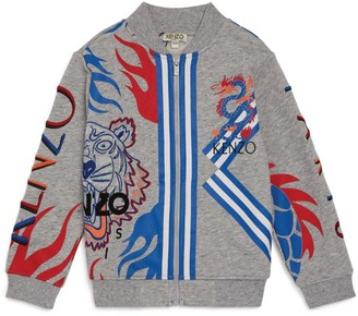 Kenzo Dragon and Icon Tiger Zip-Up Hoodie
