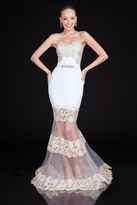 Terani Couture 1611P1357A Embellished Modified Sweetheart Mermaid Dress