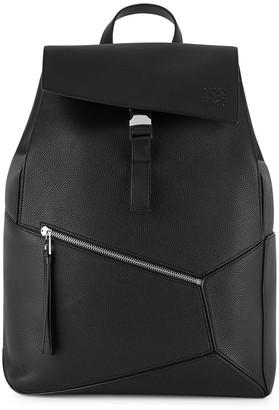 Loewe Puzzle black leather backpack