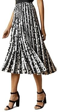 Ted Baker Vyvian Polka Dot Pleated Skirt