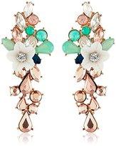 m. haskell Purple by Vintage Flowers Faceted-Bead Drop Earrings
