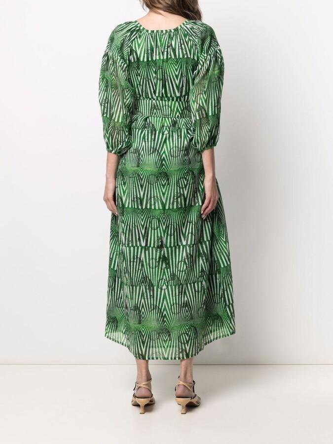 Thumbnail for your product : Samantha Sung Nina geometric-print dress