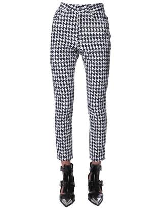 Alexander McQueen Houndstooth Print Skinny Fit Pants