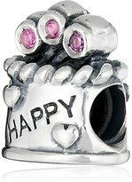 Chamilia Sterling Silver and Swarovski Zirconia Happy Birthday Bead Charm