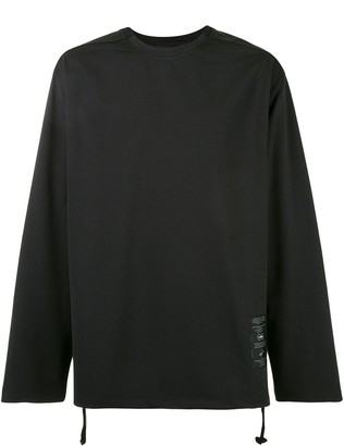 SONGZIO Darkness back slit long-sleeved top