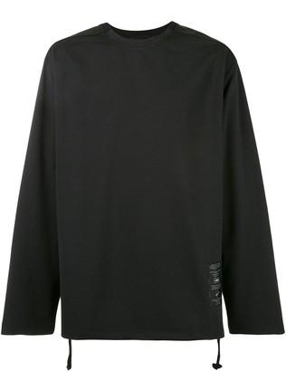 Songzio Back Slit Long-Sleeved Top