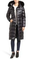 Andrew Marc Women's Down Coat With Genuine Fox Fur Trim