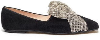 Rodo Strass embellished bow flats