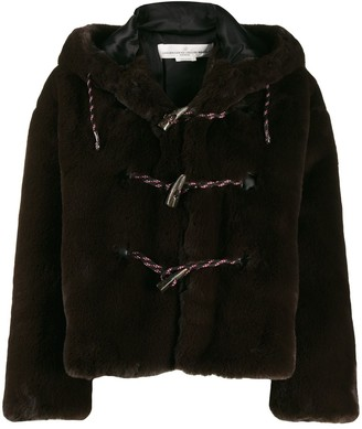 Golden Goose Faux Fur Hooded Duffle Coat