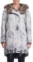 Gianfranco Ferre Reversible Fur-Lined Embroidered Stroller Coat
