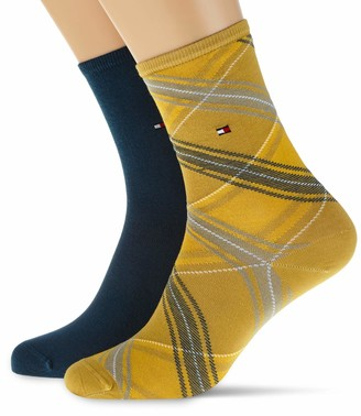 Tommy Hilfiger Women's Th Sock 2p Tartan