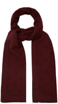 Gucci Star and bee-jacquard wool scarf