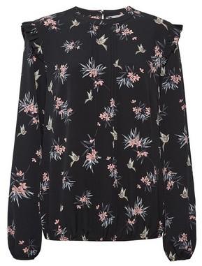 Dorothy Perkins Womens **Billie & Blossom Tall Black Floral Bird Print Long Sleeve Top, Black