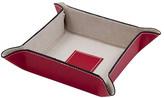 Leather Valet Tray, Red