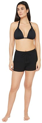 La Blanca Island Fare Shorts Swimsuit Bottoms (Black) Women's Swimwear