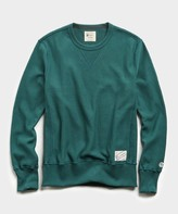 Todd Snyder + Champion Reverse Weave Crew in Storm Green
