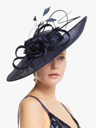 John Lewis & Partners Victoria Loop and Quills Wide Disc Occasion Hat