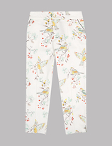 Autograph Printed Cotton Trousers with Stretch (3-14 Years)