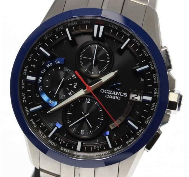 Casio Oceanus OCW-S3001E-1AJF Titanium Quartz 40mm Mens Watch