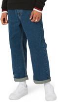 Topman Men's Crop Wide Leg Jeans