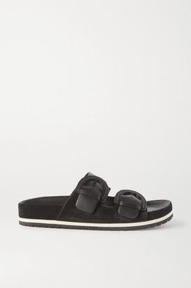 Vince Glyn Leather Slides - Black
