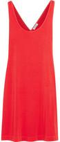 Splendid Crossover-back Stretch-jersey Mini Dress - Tomato red