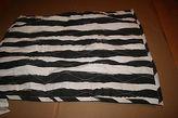 Martha Stewart Whim Collection Different Strokes Standard Sham Quilted Black