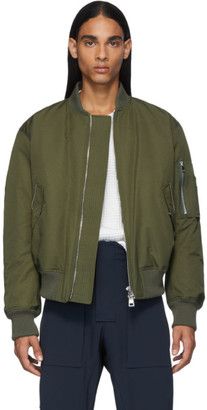 Bottega Veneta Green Woven Bomber Jacket
