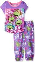Teenage Mutant Ninja Turtles Girls Dodging Darts Painted Hearts Pajama Set