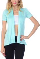 Bellino Mint Short-Sleeve Open Cardigan