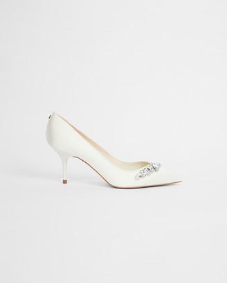 Ted Baker SPARKAL Embellished crystal mid heel court