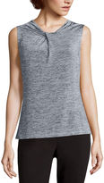 Liz Claiborne Sleeveless Highneck Twist Top