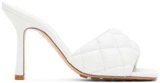 Bottega Veneta White Padded Heeled Sandals