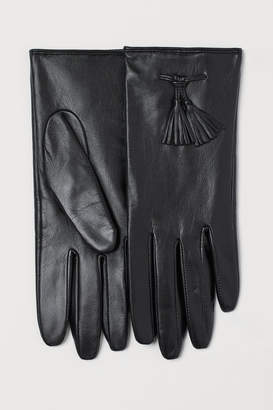 H&M Leather Gloves with Tassels