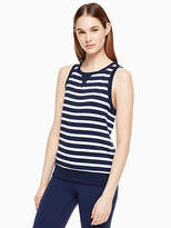 Kate Spade Modal terry bow cut-out sleeveless sweatshirt