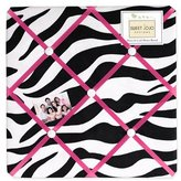JoJo Designs Funky Zebra Fabric Memory/Memo Photo Bulletin Board by Sweet